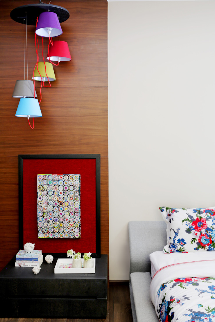 Homes Eclectic style bedroom by Rakeshh Jeswaani Interior Architects Eclectic