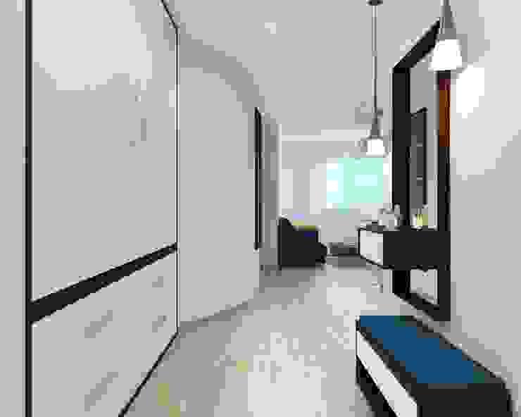 ДизайнМастер Eclectic style corridor, hallway & stairs