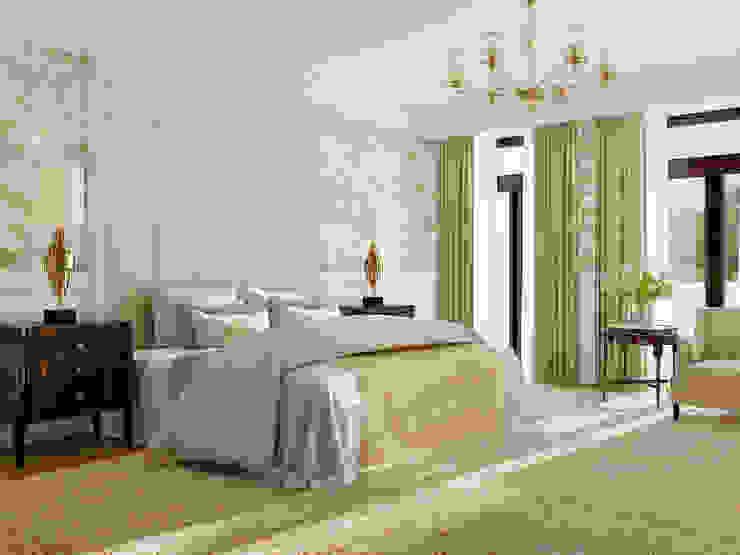 Загородный дом. Барвиха. Спальня в эклектичном стиле от Porterouge Interiors \ Krasnye Vorota Эклектичный
