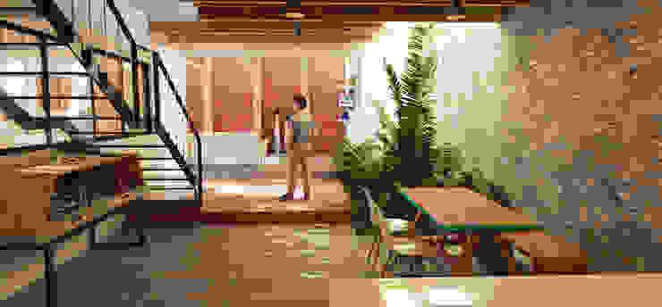 Vintark arquitectura Modern dining room Bricks Multicolored