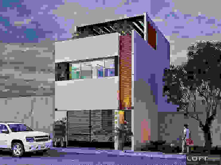 Fachada Casas modernas de LOFT ESTUDIO arquitectura y diseño Moderno Cerámico