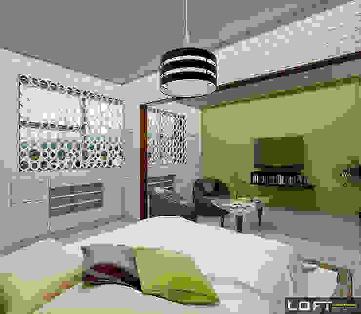 Recámara Principal Dormitorios modernos de LOFT ESTUDIO arquitectura y diseño Moderno Madera Acabado en madera