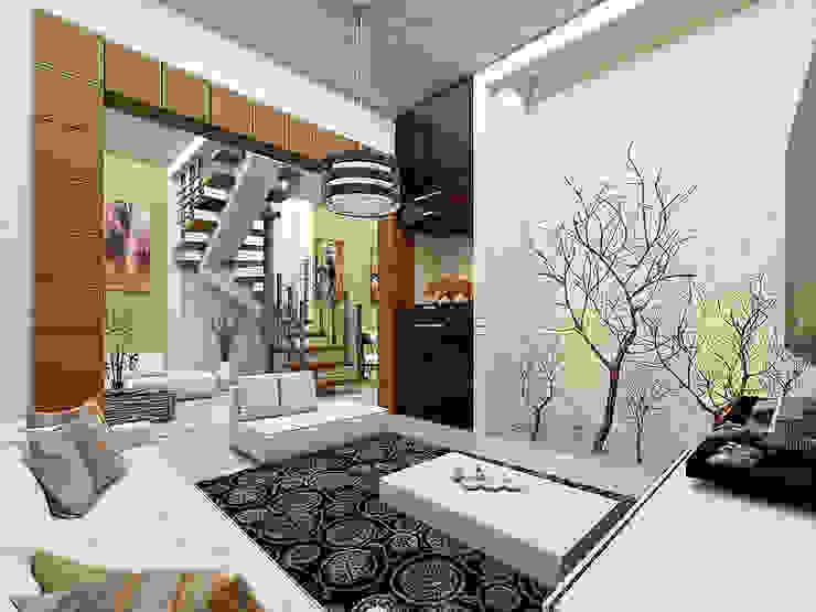 Estancia Salones modernos de LOFT ESTUDIO arquitectura y diseño Moderno Ladrillos