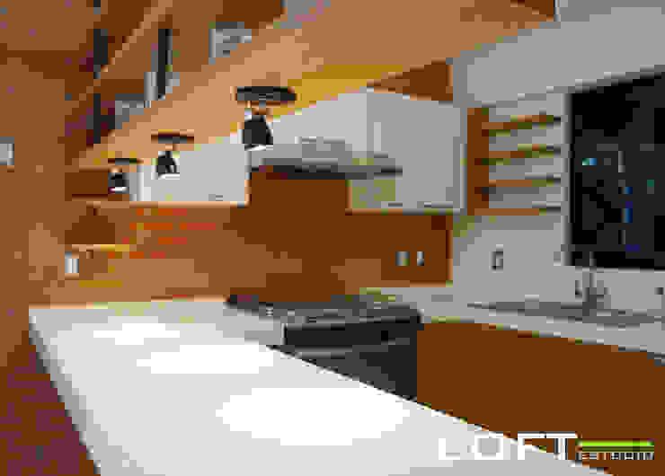 Cocina Cocinas de estilo ecléctico de LOFT ESTUDIO arquitectura y diseño Ecléctico Ladrillos