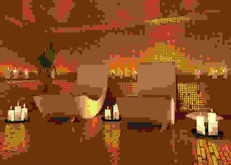 Modern and stylish Spa nassboards Modern Spa Tiles Amber/Gold