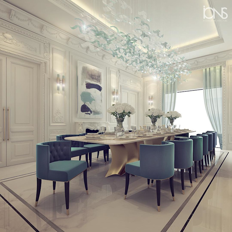 Sumptuous Dining Room Design من IONS DESIGN حداثي رخام