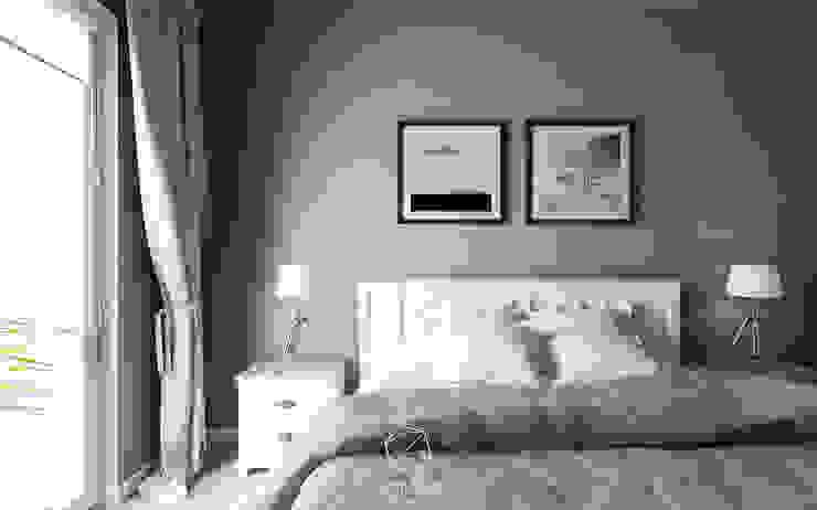 Angielska mieszanka: styl , w kategorii Sypialnia zaprojektowany przez AP DIZAJN - wnętrza & dizajn,Eklektyczny