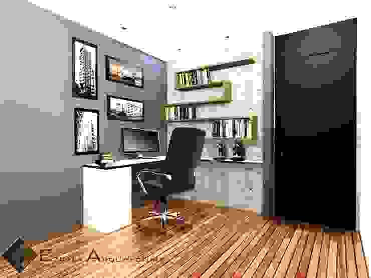 Estudio Estudios y despachos de estilo moderno de EZCALA ARQUITECTURA Moderno