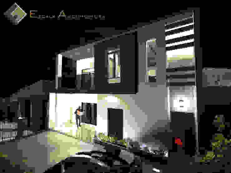 Reconstrucción de Fachada en Vivienda Multifamiliar Casas modernas de EZCALA ARQUITECTURA Moderno