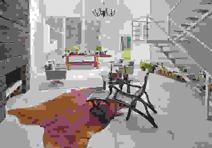 Living Salas de estar campestres por IDALIA DAUDT Arquitetura e Design de Interiores Campestre