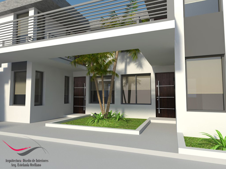 Modern corridor, hallway & stairs by Arq-Diseño Interior Modern