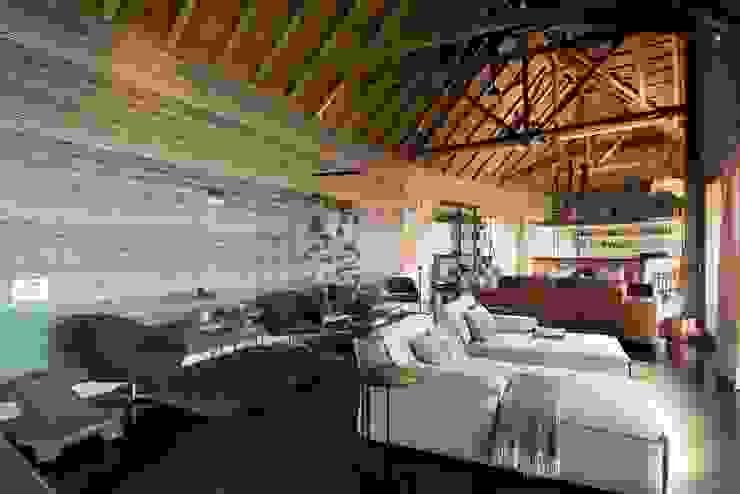 Mhondoro, een Lodge in Zuid-Afrika Moderne woonkamers van All-In Living Modern