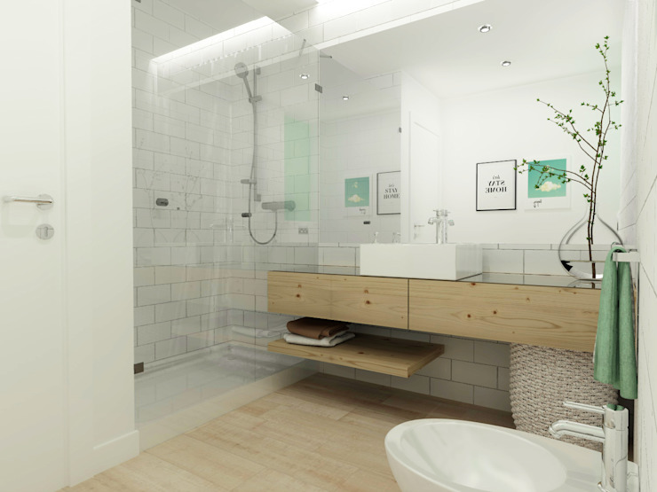 Scandinavian style bathroom by homify Scandinavian