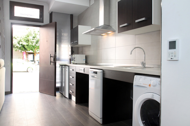 Loft Adaptado Platero Leiva_#LoftODB6 Cocinas de estilo moderno de Mohedano Estudio de Arquitectura S.L.P. Moderno