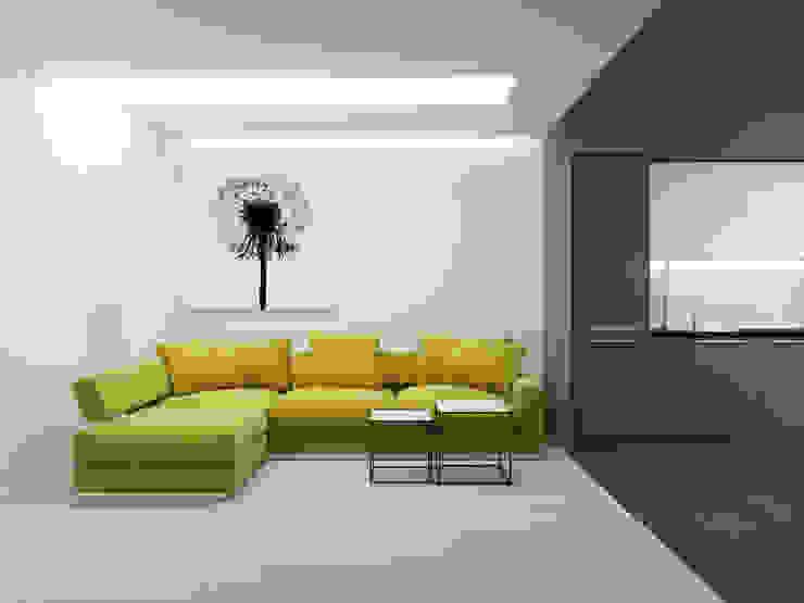 Salas de estilo minimalista de Оксана Мухина Minimalista
