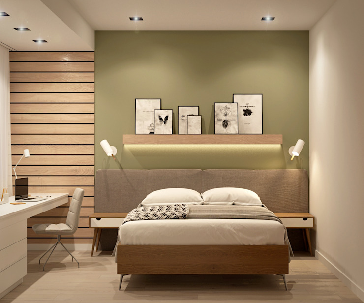 Scandinavian style bedroom by homify Scandinavian