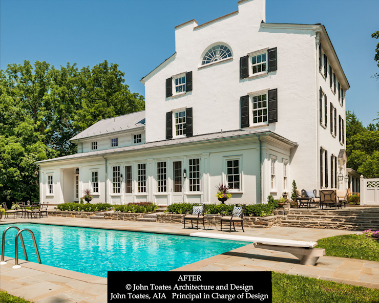 Pool Facing Facade Classic style houses by John Toates Architecture and Design Classic