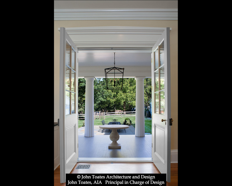 Porch Entry John Toates Architecture and Design Classic style balcony, porch & terrace