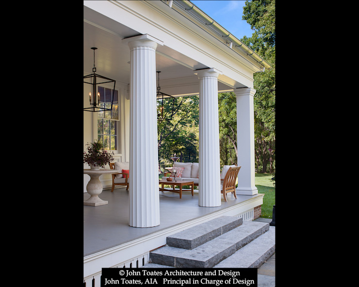 Porch Columns John Toates Architecture and Design Classic style balcony, veranda & terrace