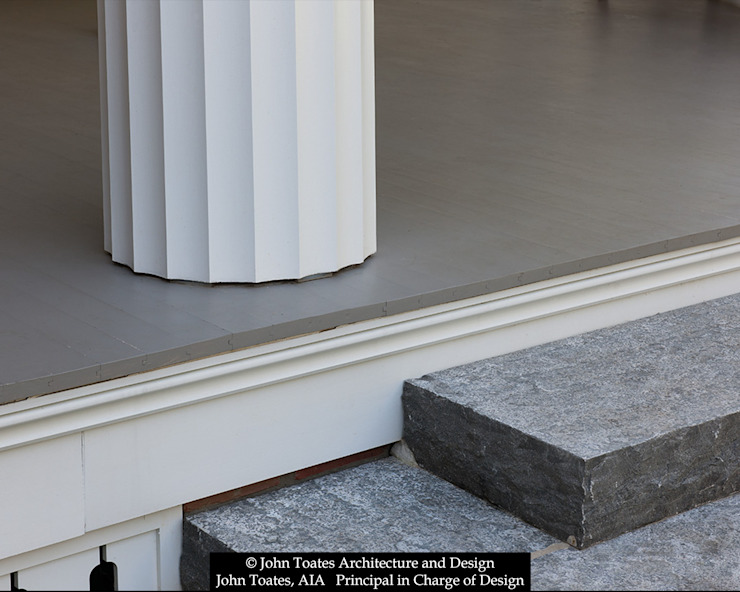 Column Detail John Toates Architecture and Design Classic style balcony, veranda & terrace White