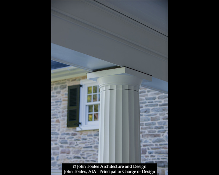 Column Detail John Toates Architecture and Design Classic style balcony, porch & terrace White