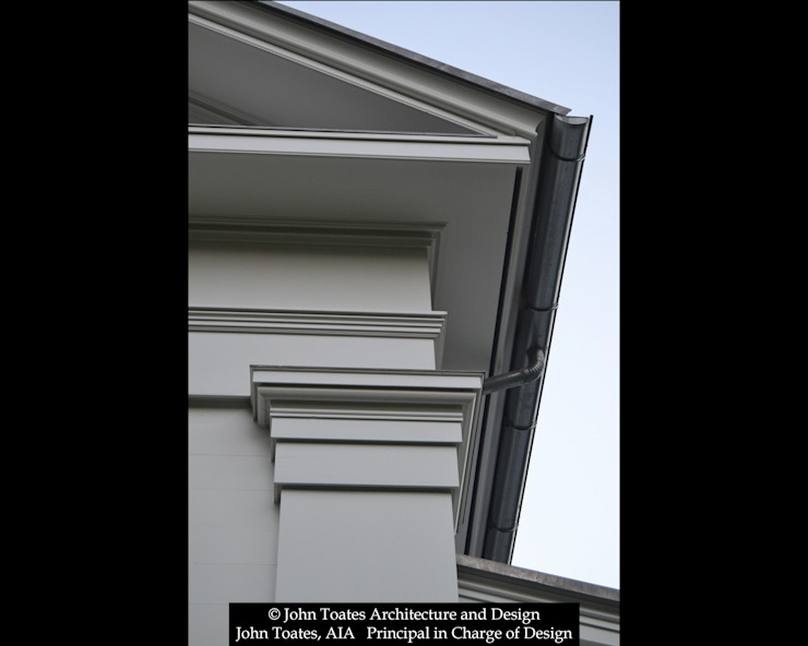 Details at Roof John Toates Architecture and Design Classic style houses White