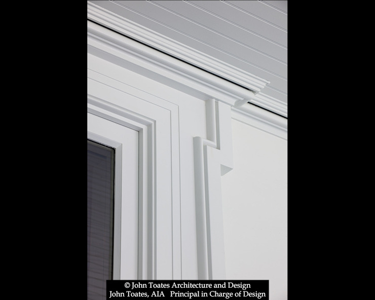 Trim Detail John Toates Architecture and Design Classic style windows & doors White