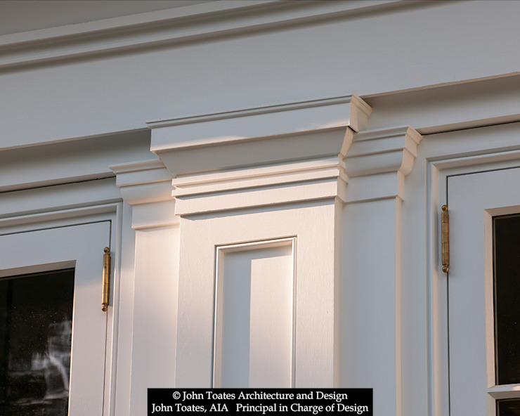 Pilaster Detail John Toates Architecture and Design Classic style houses White