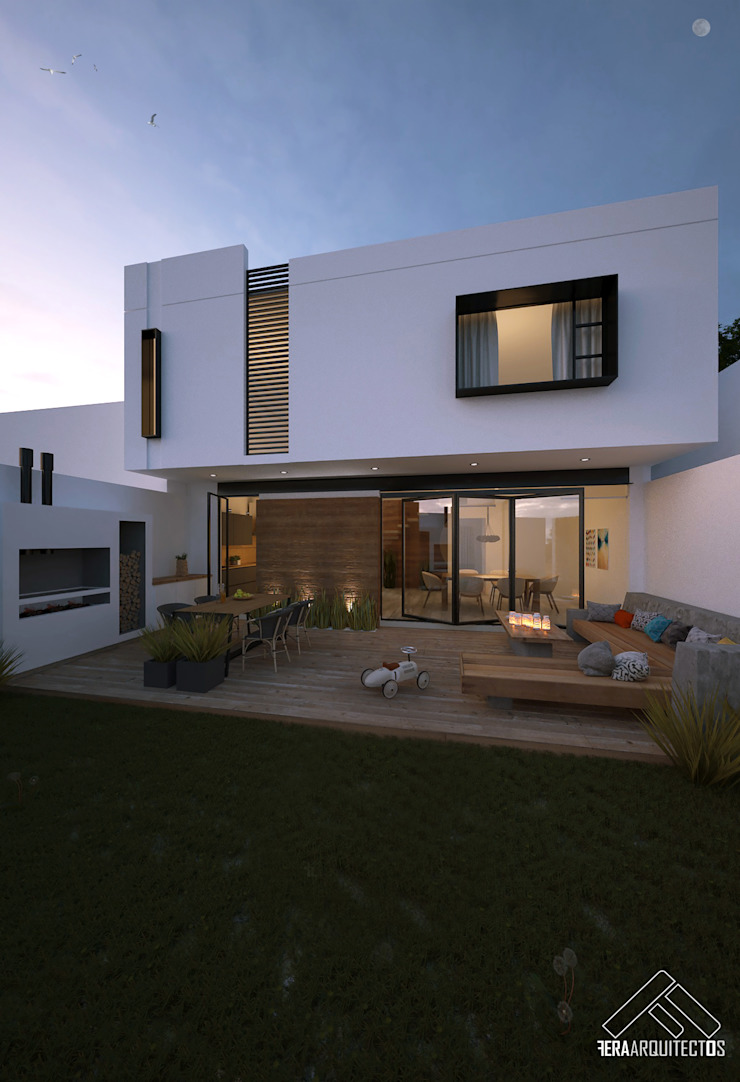 CASA CORONA Balcones y terrazas minimalistas de FERAARQUITECTOS Minimalista