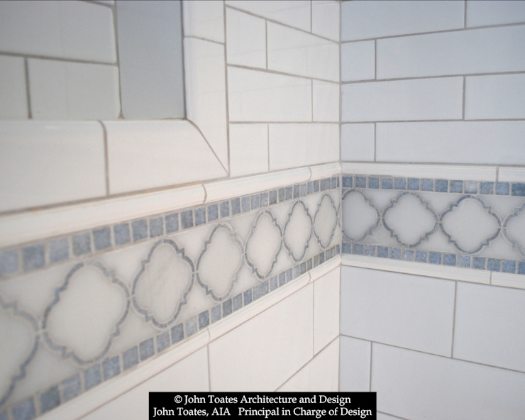 Tile Detail Classic style bathroom by John Toates Architecture and Design Classic
