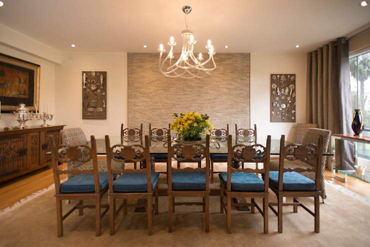 Duo Arquitectura y Diseño Sala da pranzo eclettica