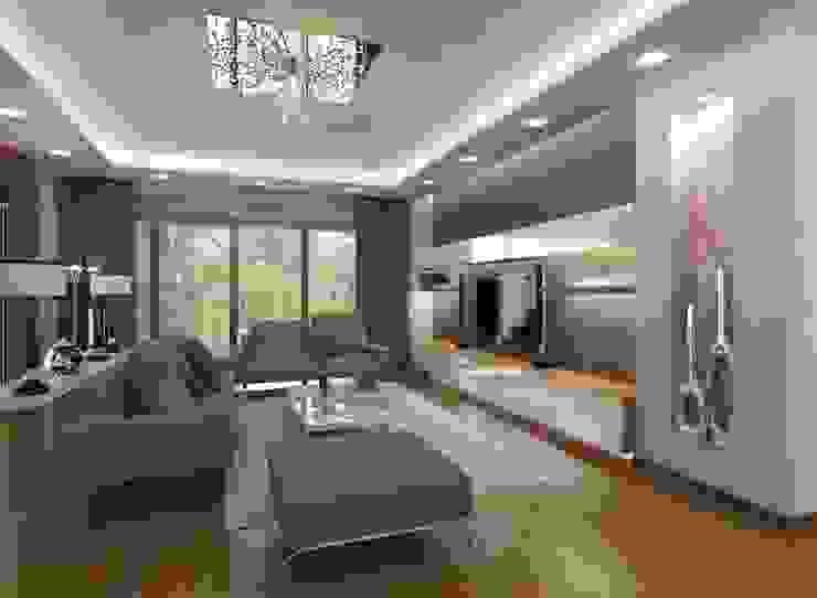 İpek Gürel Villa VERO CONCEPT MİMARLIK Modern Oturma Odası