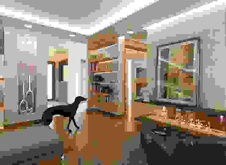 现代客厅設計點子、靈感 & 圖片 根據 VERO CONCEPT MİMARLIK 現代風