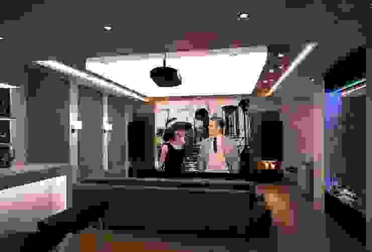 İpek Gürel Villa VERO CONCEPT MİMARLIK Modern Multimedya Odası