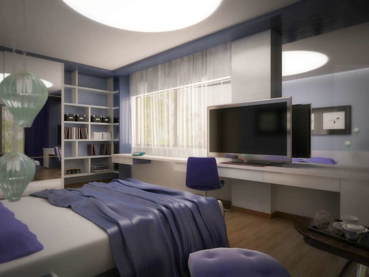 İpek Gürel Villa Modern Yatak Odası VERO CONCEPT MİMARLIK Modern