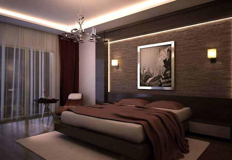 İpek Gürel Villa VERO CONCEPT MİMARLIK Modern Yatak Odası