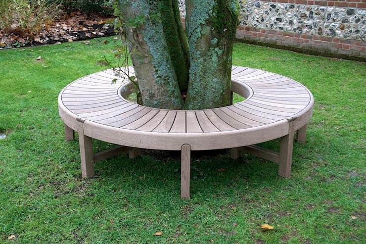 The Broadwalk Tree Bench: classic  by Gaze Burvill, Classic Wood Wood effect