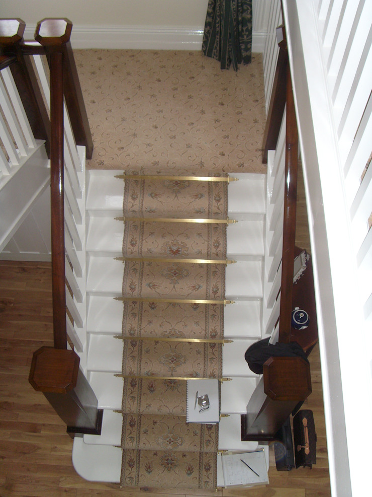 Hallway Stairs Before by George Bond Interior Design