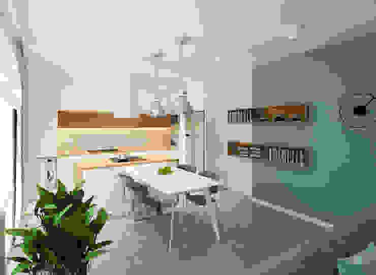 Z widokiem na zalew: styl , w kategorii Jadalnia zaprojektowany przez Kolorum Projektowanie Wnętrz,Skandynawski