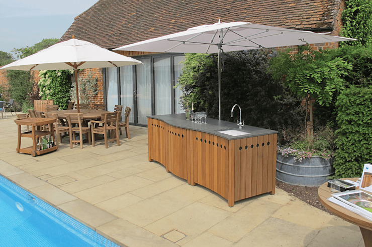 The Gaze Burvill Outdoor Classic Kitchen: modern  by Gaze Burvill, Modern Wood Wood effect