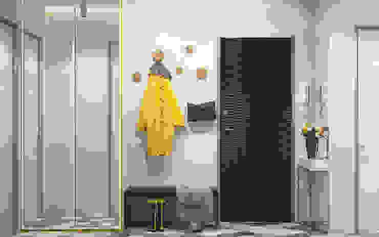 ทางเดินสไตล์สแกนดิเนเวียห้องโถงและบันได โดย PRIVALOV design สแกนดิเนเวียน