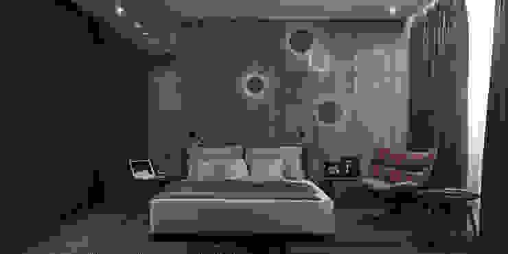 Квартира в ЖК RIVER PARK Спальня в стиле минимализм от Elena Potemkina Минимализм