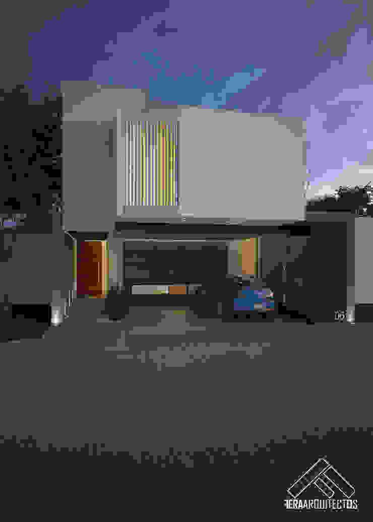 FACHADA PRINCIPAL Casas minimalistas de FERAARQUITECTOS Minimalista