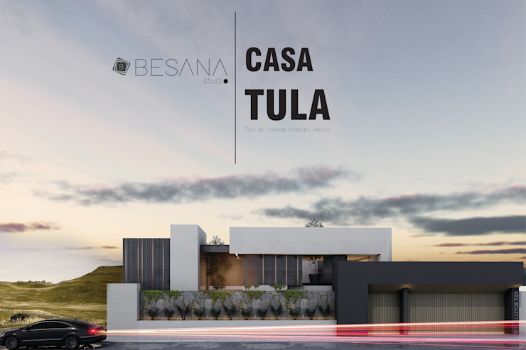 Casa Tula Casas modernas de Besana Studio Moderno Concreto