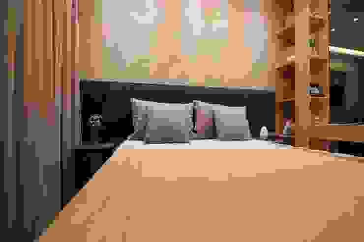 モダンスタイルの寝室 の Pricila Dalzochio Arquitetura e Interiores モダン