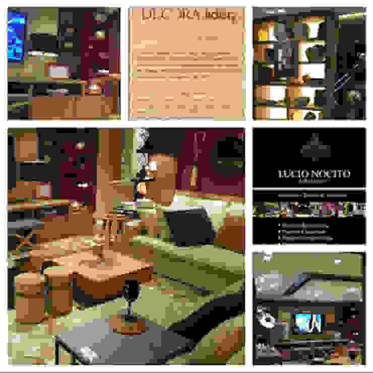 Industrial style living room by Lucio Nocito Arquitetura e Design de Interiores Industrial Wood Wood effect