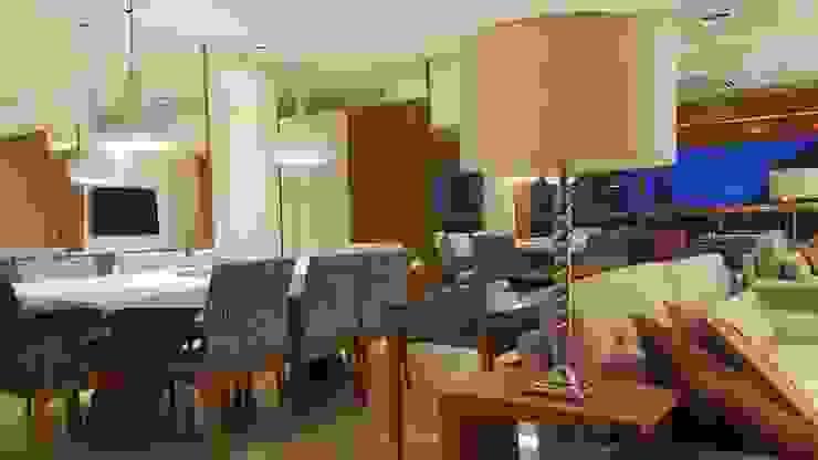 Modern dining room by Lucio Nocito Arquitetura e Design de Interiores Modern Wood Wood effect