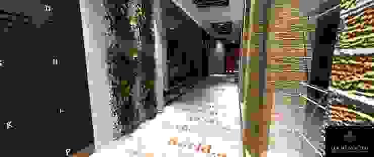 Modern corridor, hallway & stairs by Lucio Nocito Arquitetura e Design de Interiores Modern Ceramic