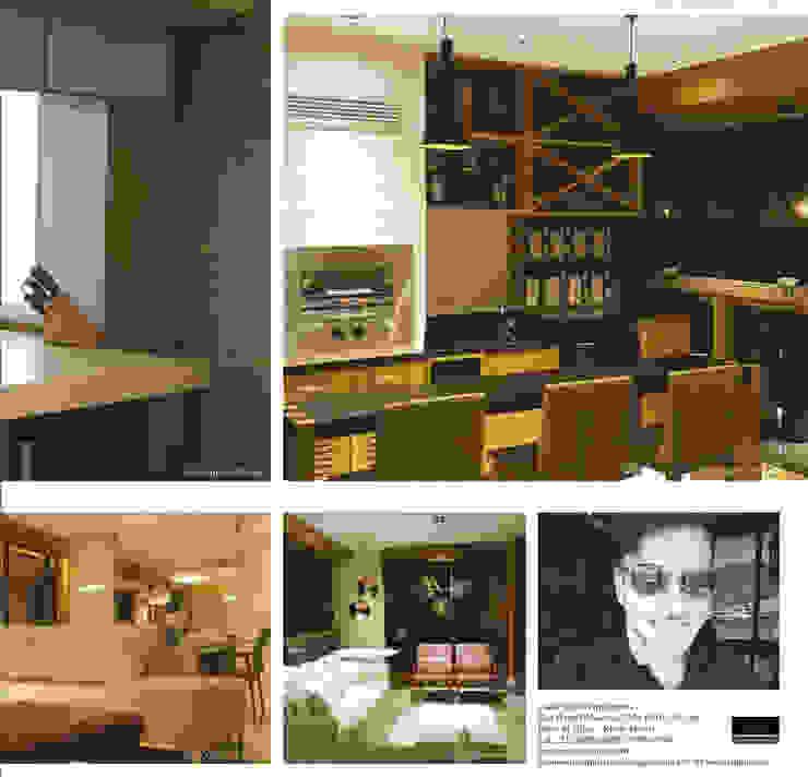 Modern dining room by Lucio Nocito Arquitetura e Design de Interiores Modern Bricks