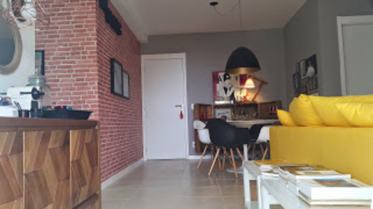 Industrial style dining room by Lucio Nocito Arquitetura e Design de Interiores Industrial Concrete
